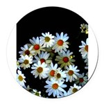 Blossoming darkness Round Car Magnet