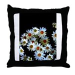 Blossoming darkness Throw Pillow