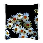 Blossoming darkness Woven Throw Pillow