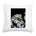 Blossoming darkness Square Canvas Pillow
