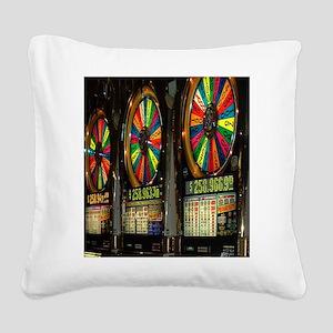Las Vegas Slots Square Canvas Pillow