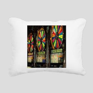 Las Vegas Slots Rectangular Canvas Pillow