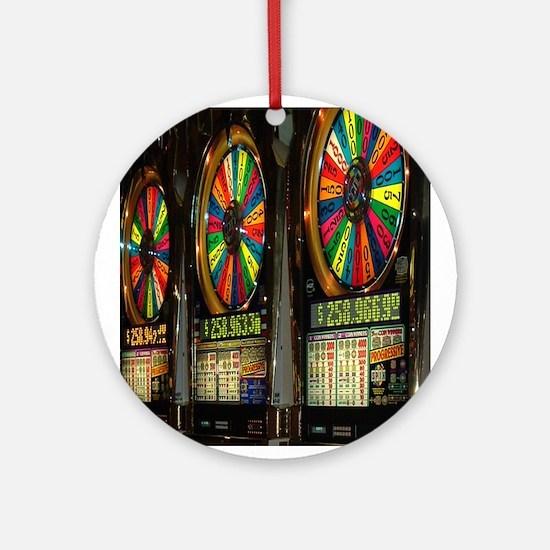 Las Vegas Slot Machines Ornament (Round)