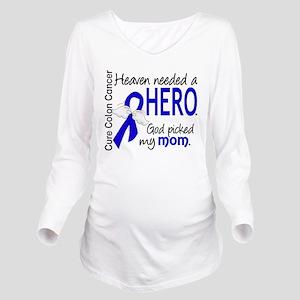 Colon Cancer HeavenN Long Sleeve Maternity T-Shirt