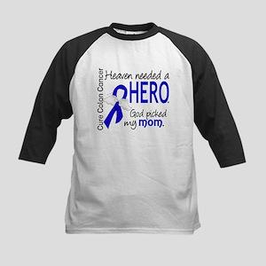 Colon Cancer HeavenNeededHero Kids Baseball Jersey