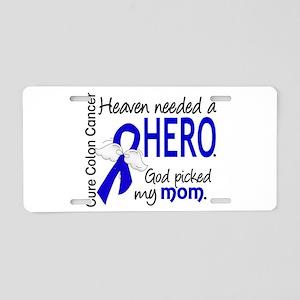 Colon Cancer HeavenNeededHe Aluminum License Plate