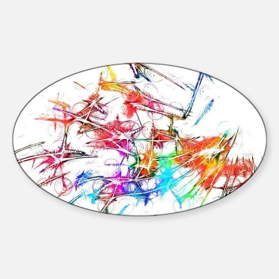 Cute Multicolored Sticker (Oval)