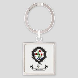 Badge-Stevenson Square Keychain