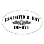 USS DAVID R. RAY Sticker (Oval)