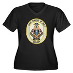 USS DAVID R. Women's Plus Size V-Neck Dark T-Shirt