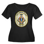USS DAVI Women's Plus Size Scoop Neck Dark T-Shirt
