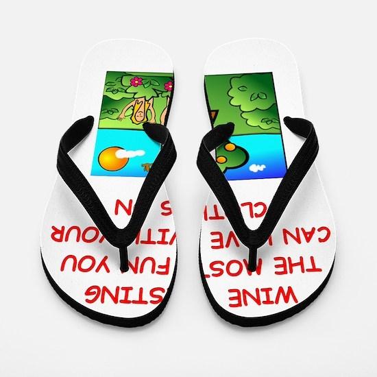 WINE Flip Flops