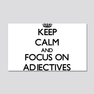 Keep Calm And Focus On Adjectives Wall Decal