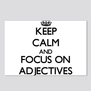 Keep Calm And Focus On Adjectives Postcards (Packa