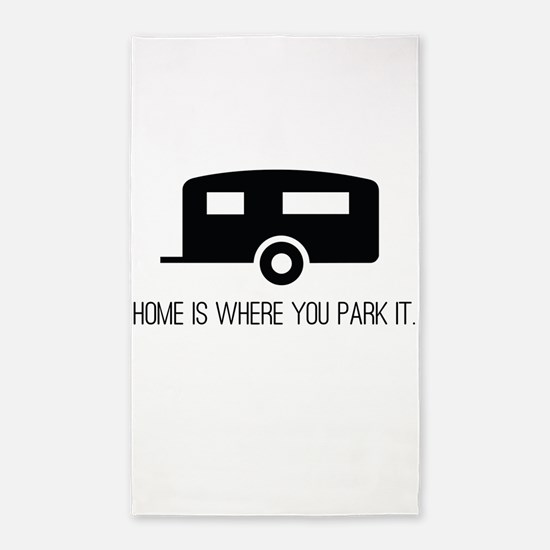 Home is Where You Park It 3'x5' Area Rug