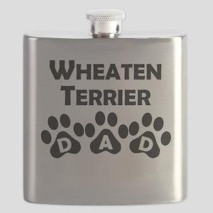 Wheaten Terrier Dad Flask