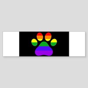 Puppy Paws Pride Bumper Sticker