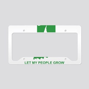 Let My People Grow License Plate Holder