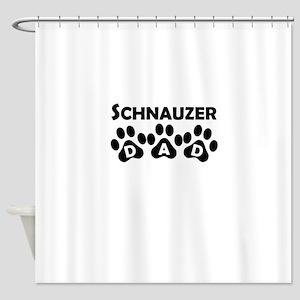 Schnauzer Dad Shower Curtain