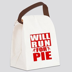 Run for Pie (Red) Canvas Lunch Bag