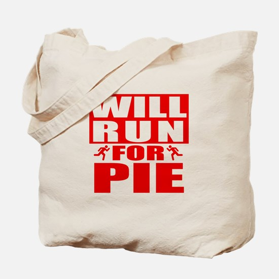 Run for Pie (Red) Tote Bag
