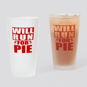 Run for Pie (Red) Drinking Glass