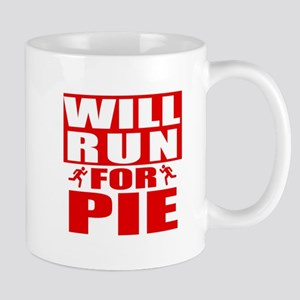 Run for Pie (Red) Mugs