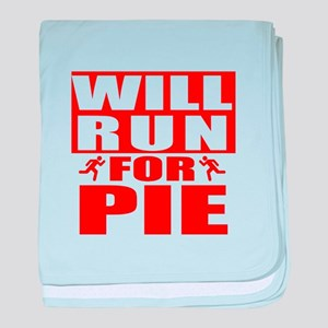 Run for Pie (Red) baby blanket