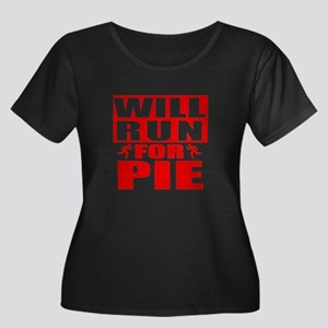 Run for Pie (Red) Plus Size T-Shirt