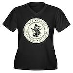 USS EVERGLAD Women's Plus Size V-Neck Dark T-Shirt