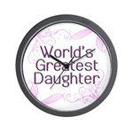 World's Greatest Daughter Wall Clock
