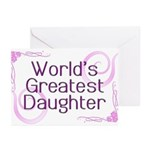 World's Greatest Daughter Greeting Cards (Pk of 10