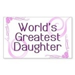 World's Greatest Daughter Rectangle Sticker