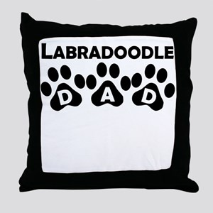 Labradoodle Dad Throw Pillow