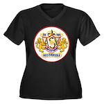 USS EVERSOLE Women's Plus Size V-Neck Dark T-Shirt
