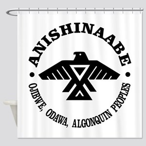 Anishinaabe Flag Shower Curtain