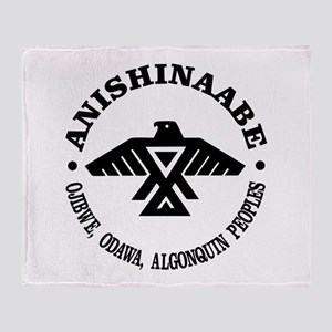 Anishinaabe Flag Throw Blanket
