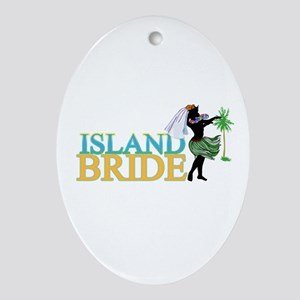 Island Bride Oval Ornament