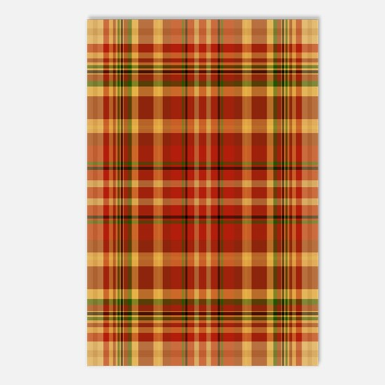 Pizza Plaid Postcards (Package of 8)