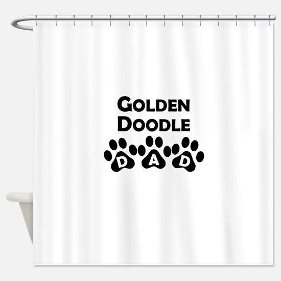 Goldendoodle Dad Shower Curtain
