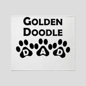 Goldendoodle Dad Throw Blanket