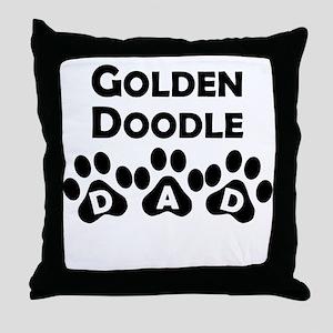 Goldendoodle Dad Throw Pillow