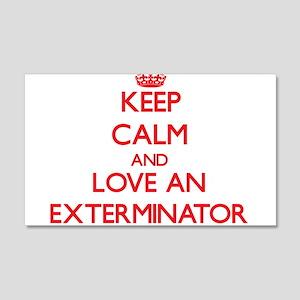 Keep Calm and Love an Exterminator Wall Decal