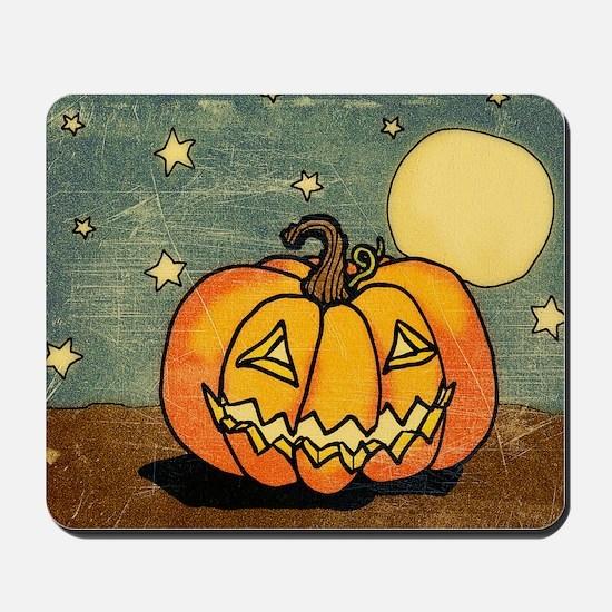 Cute Pumpkin Moon And Stars Mousepad