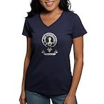 Badge-Paterson [Fife] Women's V-Neck Dark T-Shirt