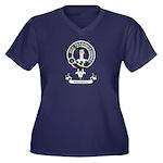 Badge-Paters Women's Plus Size V-Neck Dark T-Shirt