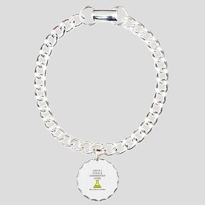 Chemistry Joke Charm Bracelet, One Charm