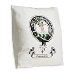 Badge-Paterson [Fife] Burlap Throw Pillow
