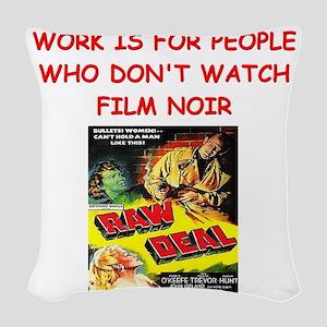 NOIR1 Woven Throw Pillow