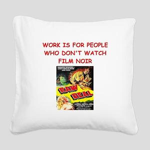 NOIR1 Square Canvas Pillow